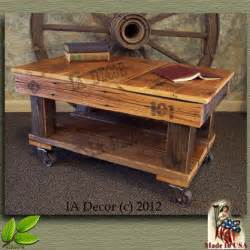 factory cart coffee table antique style reclaimed wood