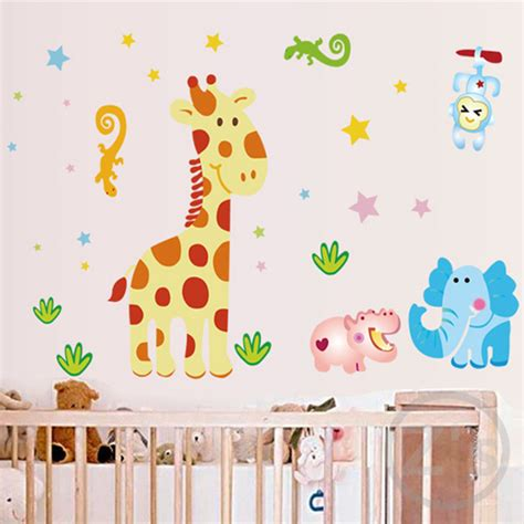 Baby Nursery Wall Decor Giraffe Wall Stickers For Nursery Baby Room Wallpaper Babies Wall Decor Children Room