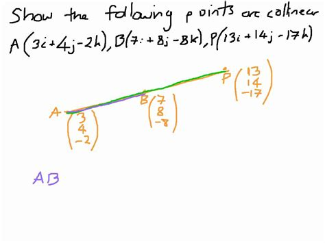 how to a show how to show points are collinear vectors