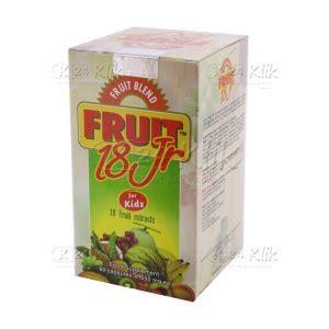 Suplemen Fruit 18 Jr jual beli fruitblend 18 jr btl 60s k24klik