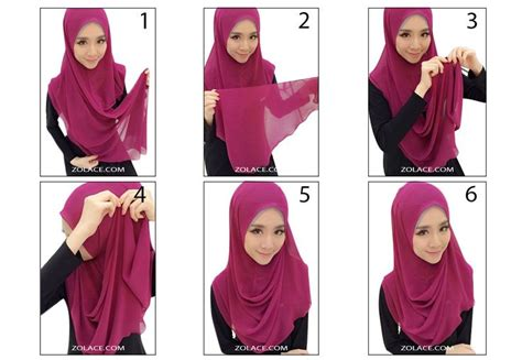 tutorial hijab gaya simple tutorial halfmoon gaya felixia yeap zolace tutorial