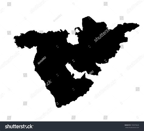 middle east africa map vector middle east vector map set of states high detailed