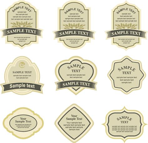 bottle label design templates simple bottle label affixed vector free vectors