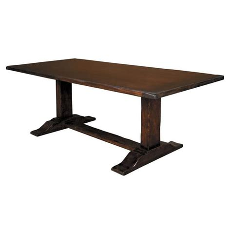 counter height trestle table trestle counter height dining table 15708622 overstock