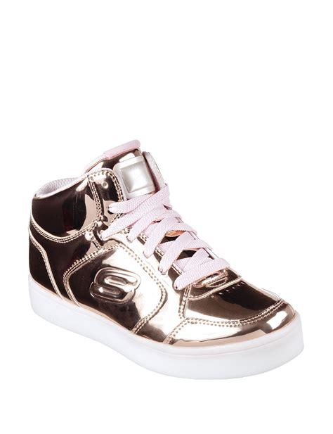 skechers rose gold light up shoes skechers energy lights mid top shoes girls 11 7 stage