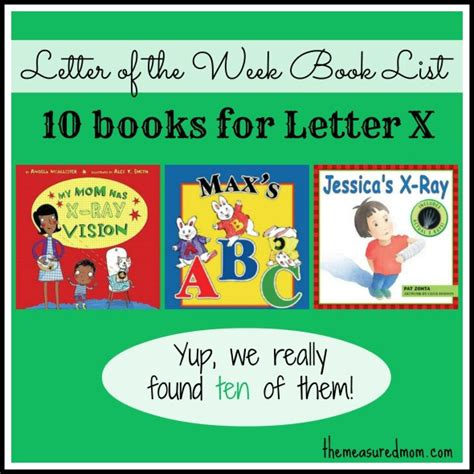 letters on books letter of the week book list letter x the measured