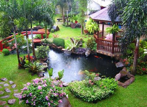 Home Backyard Garden Asian Backyard Garden Design With An Style Bridge