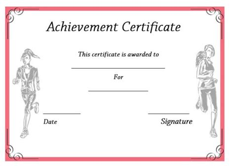 running certificate templates 19 athletic certificate templates for schools clubs