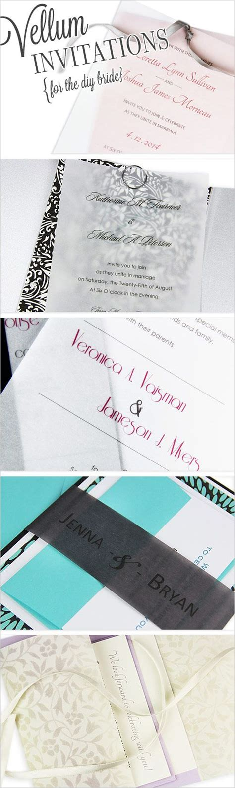 wedding invitations using vellum paper diy vellum invitation ideas translucent vellum paper