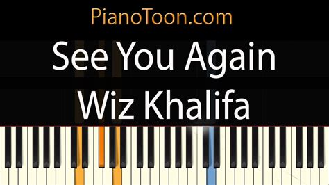 tutorial piano when i see you again wiz khalifa see you again piano tutorial by pianotoon