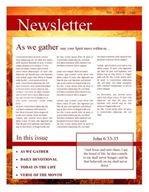 christian newsletter templates free fall leaves church newsletter template newsletter templates