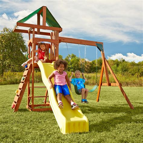 Slide Set swing n slide pb 8137 scrambler play set swing sets at