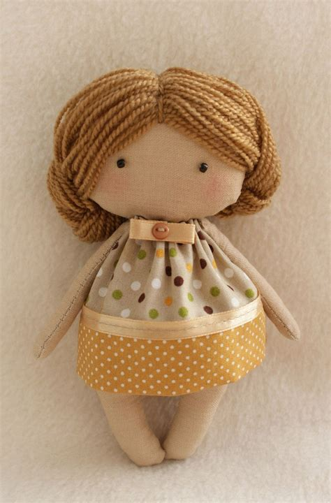 pattern fabric doll diy doll making kit easy to do olie primitive cloth doll
