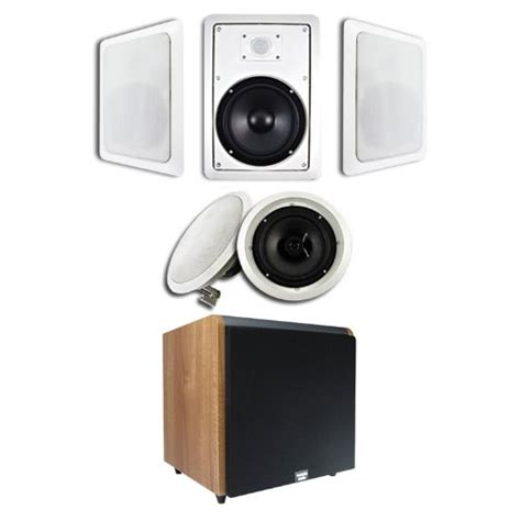 home theater systems 5 1 in wall ceiling 8 quot speaker