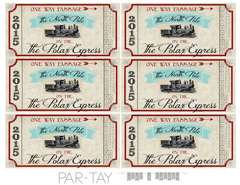 printable minivan express tickets polar express train tickets free printable party like a