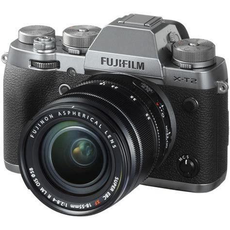 Fujifilm Fuji X T2 Graphite fuji fujifilm x t2 graphite silver dslr cameras