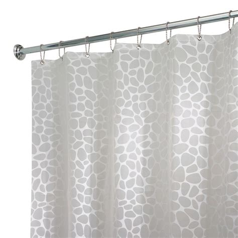 home depot shower curtains interdesign pebblz shower curtain in white 26580 the
