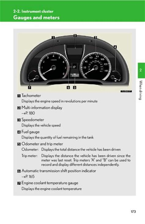 vehicle repair manual 2012 lexus rx instrument cluster 2012 lexus rx350 instrument cluster pdf manual 18 pages