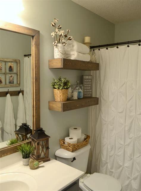 bathroom floating shelves diy rustic wood floating shelves