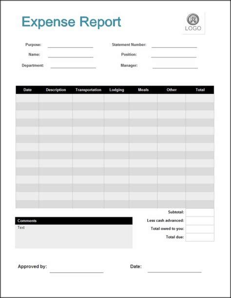 itemized expense report template expenses template itemized expenses template palladiumes