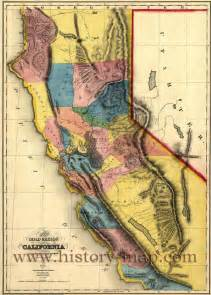 map of california gold mines california gold map