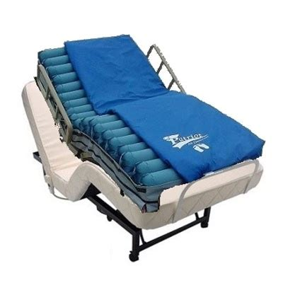 adjustable bed with low air loss alternating pressure mattress