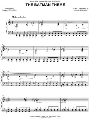 theme songs batman batman the animated series sheet music downloads at