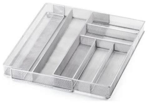 wire mesh kitchen drawer organizers copco expandable wire mesh cutlery organizer