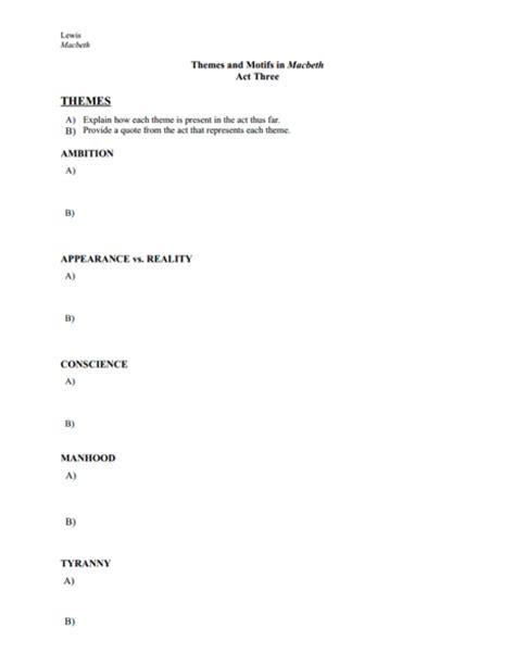 motifs in macbeth worksheet related keywords suggestions for motif worksheets