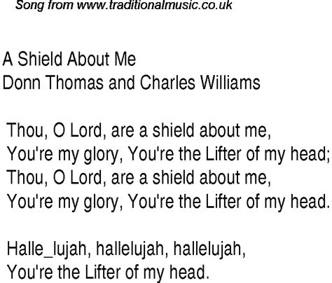 song about a a shield about me christian gospel song lyrics and chords
