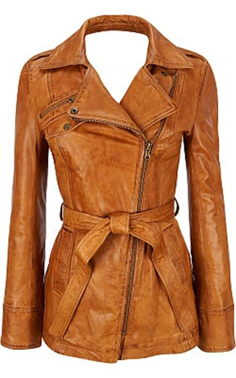 Tang Rivet Camel leather leather trench coat and leather blazer on