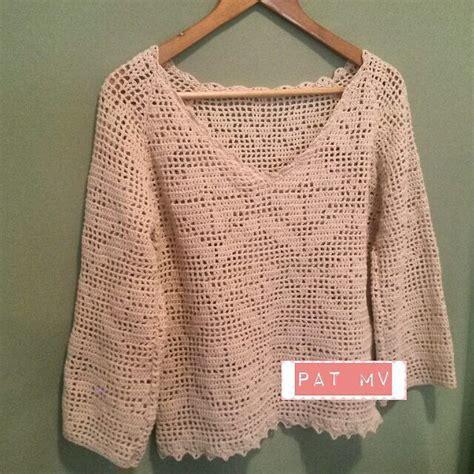 Ver A Travs De La Blusa Ganchillo Blusa Patrones Tallas Grandes De | patrones de blusa crochet filet crochet y dos agujas