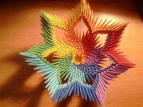 3d Origami Ideas - tutorial how to make 3d origami rainbow bowl