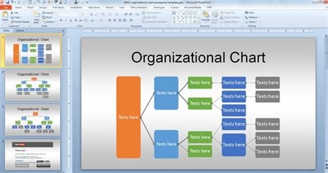 interactive organizational chart template free org chart powerpoint template for organizational