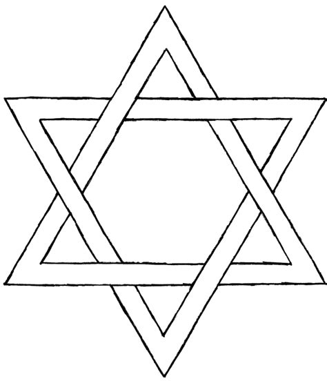 coloring page of star of david star of david