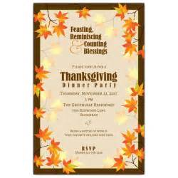 Thanksgiving Luncheon Invitation Fall Leaves Thanksgiving Invitations Paperstyle