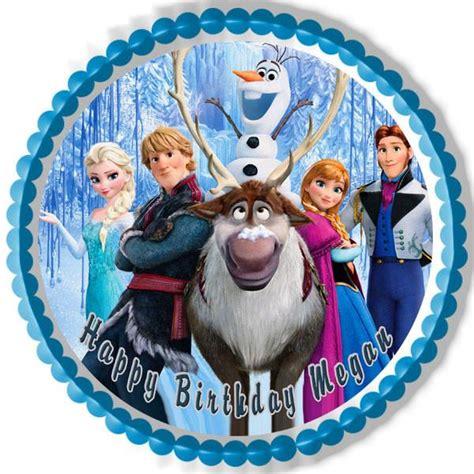 frozen  edible birthday cake  cupcake topper edible prints  cake epoc