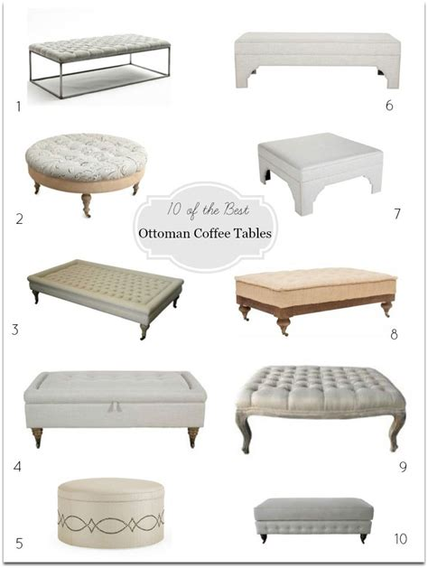 ottomans as coffee tables ottoman coffee tables diy decorator