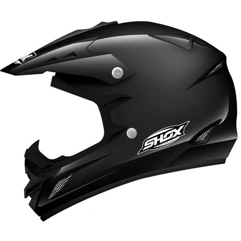 black motocross helmets shox mx 1 solid off road quad atv motocross pit bike mx