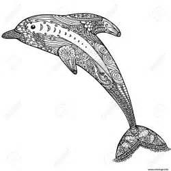 coloriage dauphin animaux dessin adulte zen difficile dessin