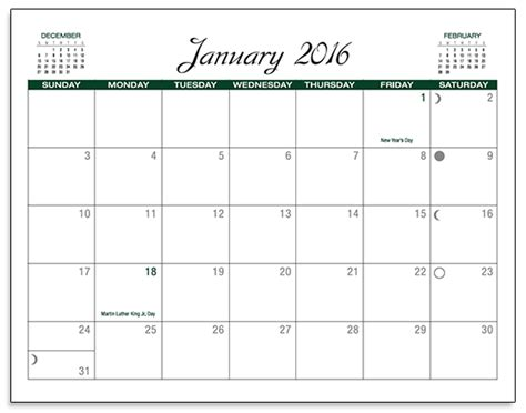 large custom calendar template print blank calendars