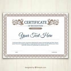 Certificate Template Vector by Ornamental Certificate Template Vector Free
