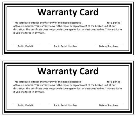warranty certificate template microsoft word templates