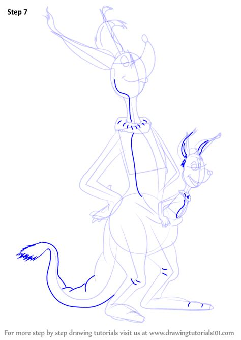 sour kangaroo coloring page step by step how to draw sour kangaroo from horton hears a