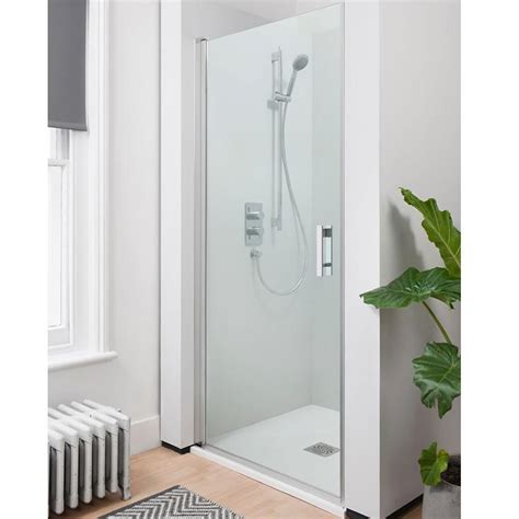 Hinged Shower Doors Uk Simpsons Click 900mm Hinged 6mm Shower Door Easy Clean Glass Sanctuary Bathrooms