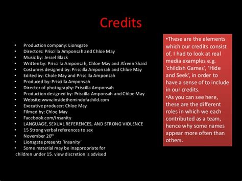 credits template creating credits powerpoint