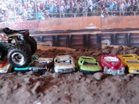 videos of monster trucks crushing cars stop motion film hotwheels monster truck crushing cars