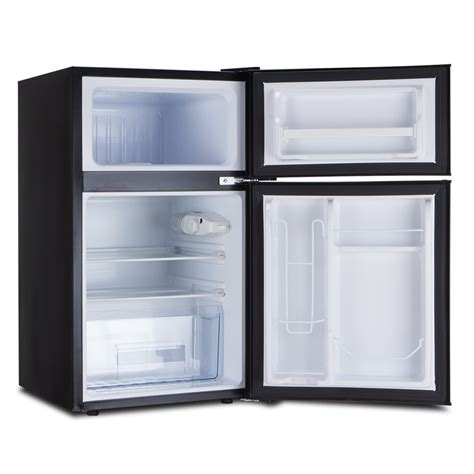 2 Door Mini Fridge With Freezer by Mini All Food Refrigerator Black 2 Door Freezer Compact Fridge 3 2 Cu Ft Ebay