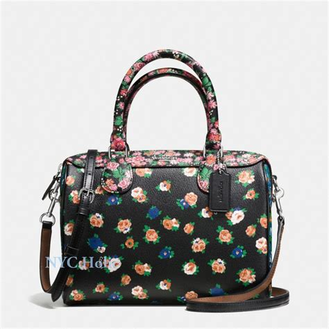 Coach Mini Bennet Nwt new coach f57626 mini satchel in floral mix print multicolor nwt ebay