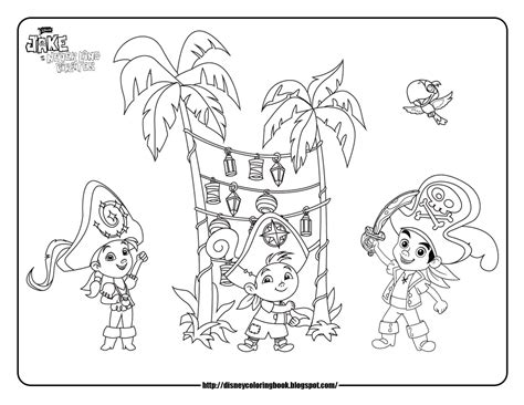 Jake And The Neverland Pirates 3 Free Disney Coloring Jake Neverland Coloring Pages